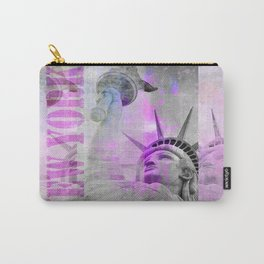 Statue of  Liberty pink mixed media art Carry-All Pouch