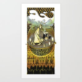 Golden Offering Art Print
