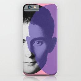 Franz Kafka - portrait pink and purple iPhone Case