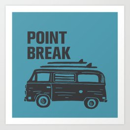 Point Break Surfing Art Print