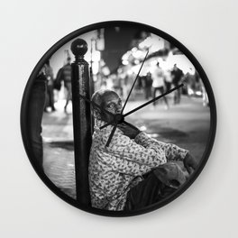 Alone in a Crowded Place Wall Clock