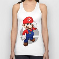mario Tank Tops featuring Mario by Ryan Ketley
