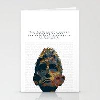 kafka Stationery Cards featuring Kafka by Ned & Ems