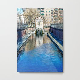 Varenne canal in the center of Milan Metal Print