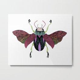 Beetle #4 Color Metal Print