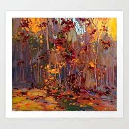 Tom Thomson - Maple Saplings - Canada, Canadian Oil Painting - Group of Seven Art Print