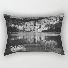 Ripple (Black and White) Rectangular Pillow