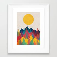 Uphill Battle Framed Art Print