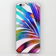 Multicolor Palm Leaf iPhone Skin