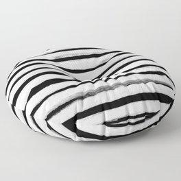 Black and White Stripes II Floor Pillow