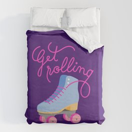 Get Rolling (Purple Background) Duvet Cover