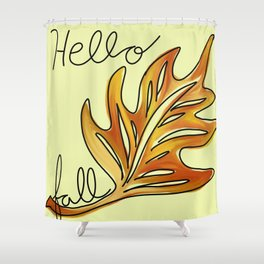 Hello Fall Shower Curtain
