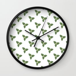 Misletoe Wall Clock