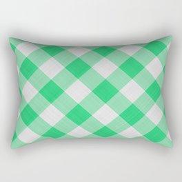 Green Gingham Rectangular Pillow
