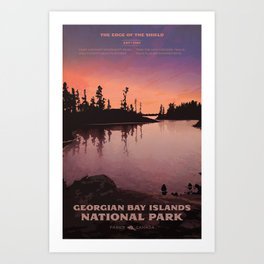 Georgian Bay Islands National Park Art Print
