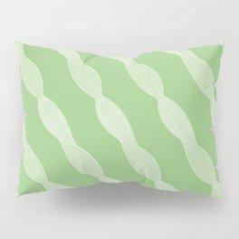 Twisted Skeleton Leaves Pattern Pillow Sham