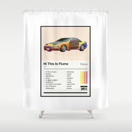 Hi This Is Flume Tracklist Shower Curtain