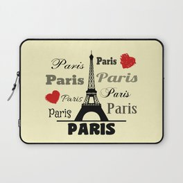 Paris text design illustration 2 Laptop Sleeve