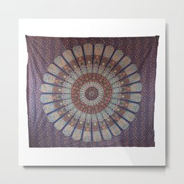 Indian Beautiful Peacock Mandala Wall Hanging Metal Print