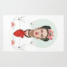 Frida Kahlo (Light) Rug