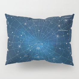Constellation Star Map Pillow Sham