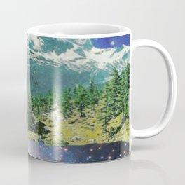 Starstruck Mountains Digital Collage Coffee Mug