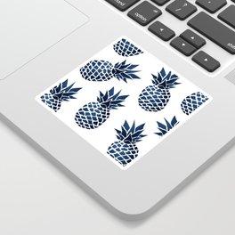 Pineapple Blue Denim Sticker