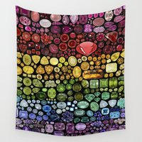gem Wall Tapestries featuring Gem Collection by Alisa Galitsyna