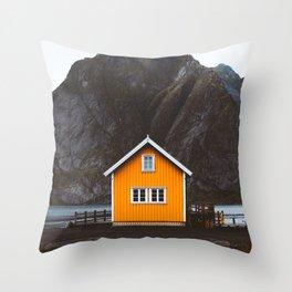 Yellow Cabin Throw Pillow