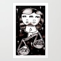 libra Art Prints featuring libra by Kaitlyn Wright