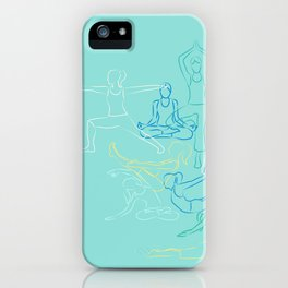 Turquoise Yoga iPhone Case