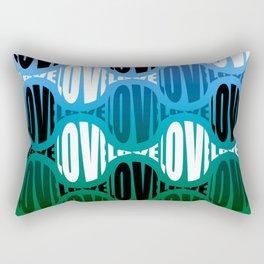 Blue/Green Big Love Rectangular Pillow