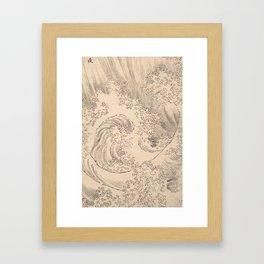 Wave by Katsushika Hokusai 1760–1849, Japanese Framed Art Print