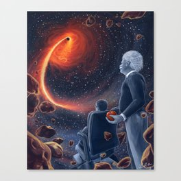 Ghosts in the Sky: Stephen Hawking and Albert Einstein Canvas Print