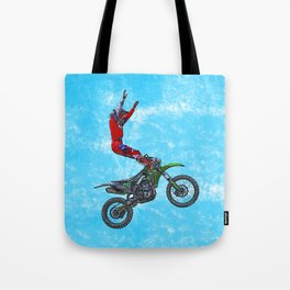 MotoCross Aerial Foot Grab Sports Stunt Tote Bag