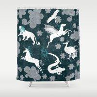 constellation Shower Curtains featuring  Constellation  by Liluna