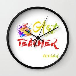 Cool Art Teacher designs - Art Teacher graphics - Art prints product Wall Clock