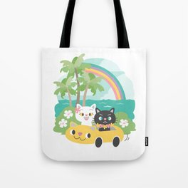 Popoki Tomodachi - Road Trip Tote Bag