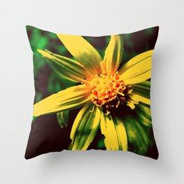 Vintage Yellow Flower Throw Pillow