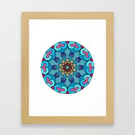 Meditation colorful mandala Framed Art Print