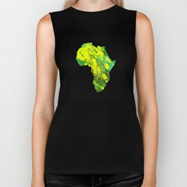 Tanzania - Art In Support Of Kids 4 School Biker Tank