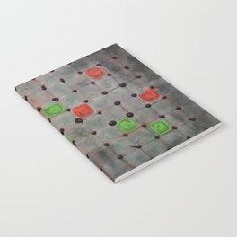 Grid with Green and Orange Highlights Notebook