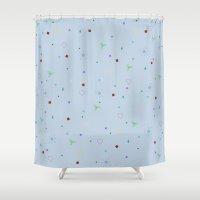 confetti Shower Curtains featuring CONFETTI by Megan Watt