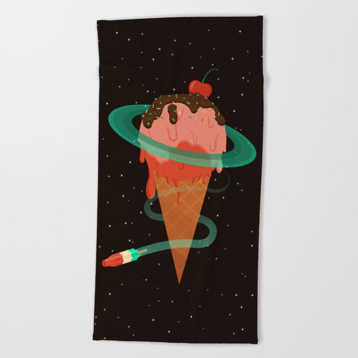 Ice Cream Planet Beach Towel