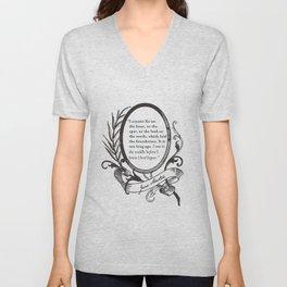 "Jane Austen ""In the Middle"" Unisex V-Neck"