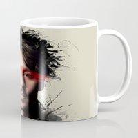 johnny depp Mugs featuring Johnny Depp by Brigitta