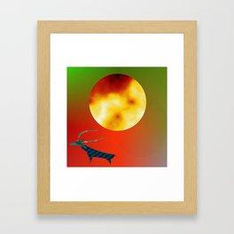 Prehistoric Stag Framed Art Print