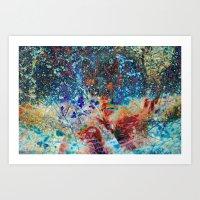 splatter Art Prints featuring Splatter by Stephen Linhart