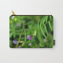 Purple flower on a Vine Carry-All Pouch