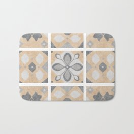 Terracotta Vintage Tiles Design Bath Mat